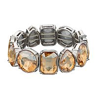 Simply Vera Vera Wang Brown Geometric Stone Stretch Bracelet