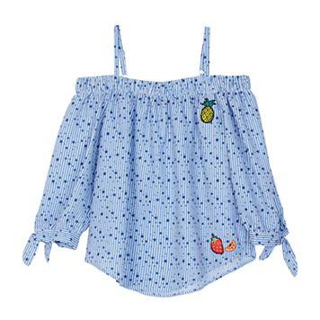 Girls 7-16 IZ Amy Byer Mini Star Print Woven Off Shoulder Top