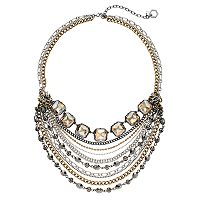 Simply Vera Vera Wang Tri Tone Swag Necklace