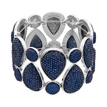 Blue Teardrop Stretch Bracelet