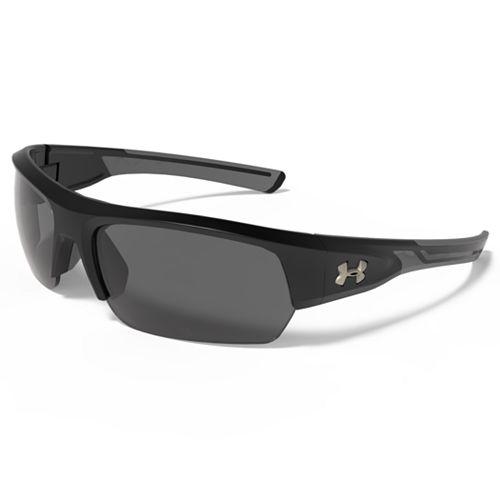 Men's Under Armour Big Shot Storm Polarized Semirimless Wrap Sunglasses
