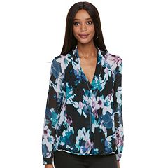 Women's Jennifer Lopez Floral Crossover Top