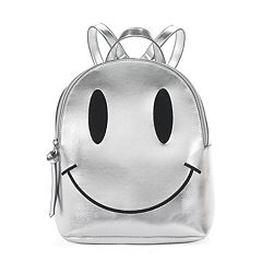 T-Shirt & Jeans Metallic Smiley Face Mini Dome Backpack