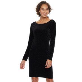 Women's Jennifer Lopez Velvet Glitter Sheath Dress
