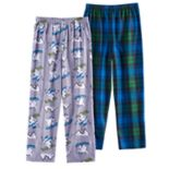 Boys 4-16 Up-Late Downhill Skiing 2-Pack Lounge Pants