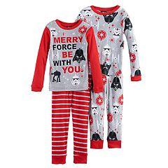 Boys 6-12 Star Wars Holiday 4 pc Pajama Set