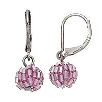 Simply Vera Vera Wang Nickel Free Purple Beaded Round Drop Earrings