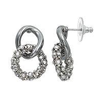 Simply Vera Vera Wang Nickel Free Interlocked Drop Hoop Earrings