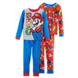 Boys 6-12 Super Mario Bros. 4-Piece Pajama Set