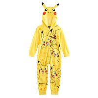 Boys 4-12 Pokemon Pikachu Union Suit
