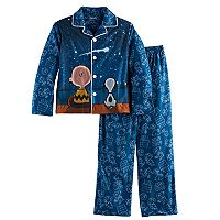 Boys 4-16 Peanuts 2-Piece Pajama Set