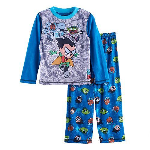 f590a2688422 Boys 4-16 Teen Titans 2-Piece Pajama Set