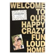 "Belle Maison ""Welcome"" Bulletin Pin Board"