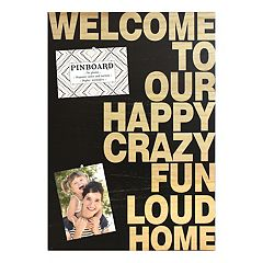 Belle Maison 'Welcome' Bulletin Pin Board