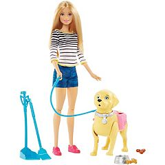 Barbie® Blonde Hair Barbie & Walk & Potty Pup Set