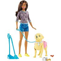 Barbie® Brunette Hair Barbie & Walk & Potty Pup Set