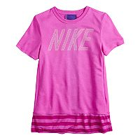 Girls 7-16 Nike Striped Drop Hem Tee