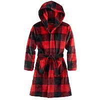 Boys 4-14 Cuddl Duds Buffalo Check Hooded Robe