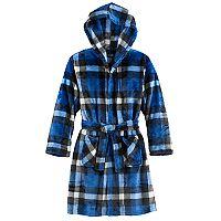 Boys 4-14 Cuddl Duds Plaid Hooded Robe