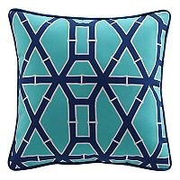 Clairebella Bamboo Print Indoor Outdoor 2 pc Throw Pillow Set