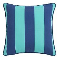 Clairebella Cabana Stripe Indoor Outdoor 2 pc Throw Pillow Set