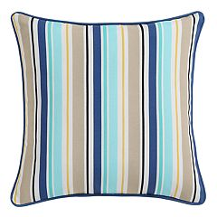 Clairebella Candy Stripe Indoor Outdoor 2-piece Throw Pillow Set