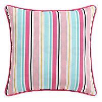 Clairebella Candy Stripe Indoor Outdoor 2 pc Throw Pillow Set