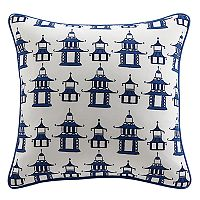 Clairebella Pagoda Chinoiserie Outdoor Throw Pillow