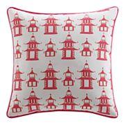 Clairebella Pagoda Chinoiserie Outdoor Throw Pillow