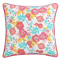 Clairebella Floral Outdoor 2 pc Throw Pillow Set