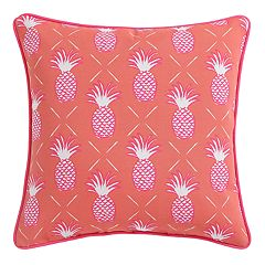 Clairebella Pineapple Microfiber Outdoor Throw Pillow