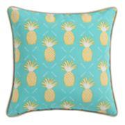 Clairebella Pineapple Microfiber Outdoor Throw Pillow