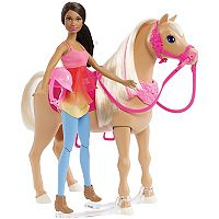 Barbie® Brunette Hair Barbie Doll & Horse Set