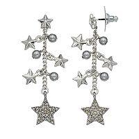 Simply Vera Vera Wang Nickel Free Star Fringe Drop Earrings