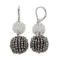 Simply Vera Vera Wang Seed Bead Ball Nickel Free Double Drop Earrings