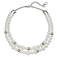 Simply Vera Vera Wang Simulated Pearl Double Strand Necklace