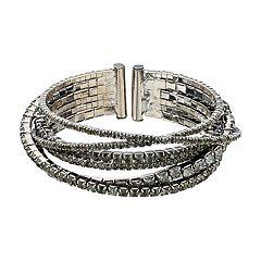 Simply Vera Vera Wang Crisscross Cup Chain Cuff Bracelet