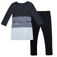 Girls 7-16 IZ Amy Byer Sparkly Belted Sweater Dress & Leggings Set