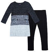 Girls 7-16 IZ Amy Byer Sparkly Belted Sweater Dress & Leggings Set