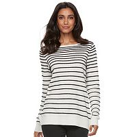 Women's ELLE™ Striped Crewneck Sweater