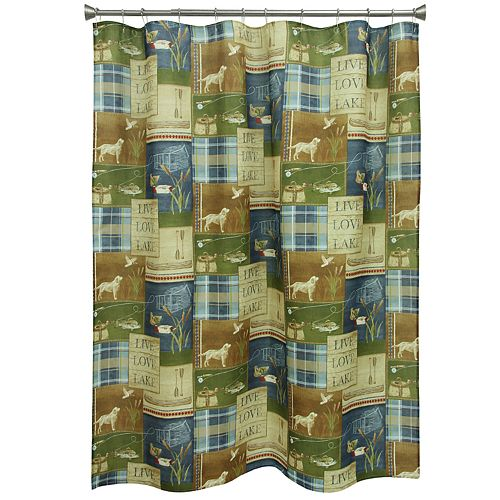 Bacova Live Love Lake Shower Curtain