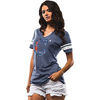 Women's Majestic Cleveland Indians Slugging Percentage Tee