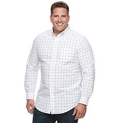 Big & Tall Croft & Barrow® Regular-Fit Plaid Button-Down Shirt