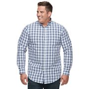 Big & Tall Croft & Barrow® Regular-Fit Plaid Button-Down Shirt