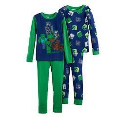 Boys 6-12 Minecraft 4 pc Pajama Set