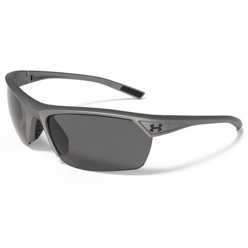 Men's Under Armour Zone 2.0 Storm Polarized Semirimless Wrap Sunglasses