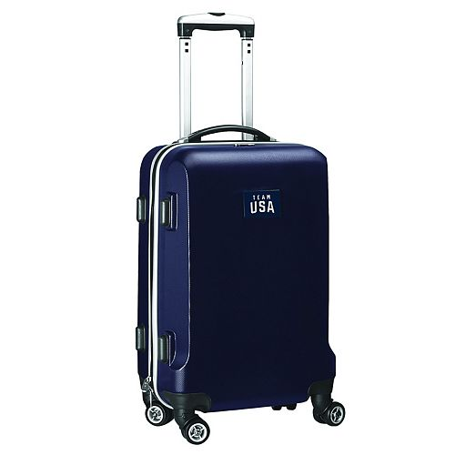 Denco USA Olympics Team 20-Inch Wheeled Hard-Case Carry-On Bag