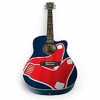Woodrow Boston Red Sox Acoustic Guitar