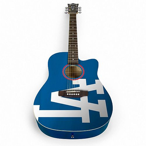 woodrow los angeles dodgers acoustic guitar. Black Bedroom Furniture Sets. Home Design Ideas