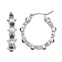 Simply Vera Vera Wang Nickel Free Star Hoop Earrings
